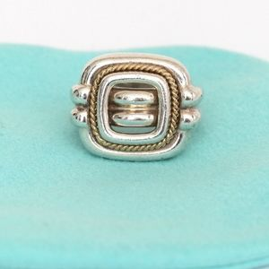 TIFFANY & CO. Sterling Silver 18kt Gold Ring